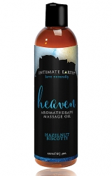 Olejek do masażu - Intimate Earth Massage Oil Heaven Hazelnut Biscotti 120 ml