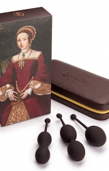 Zestaw kulek gejszy Coco de Mer Catherine Pleasure Balls Set Brown