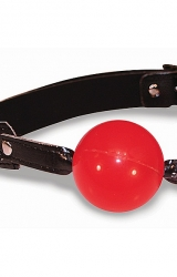 Knebel do ust - S&M Solid Red Ball Gag
