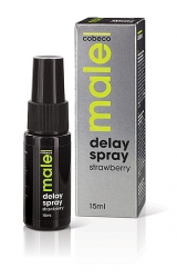 Żel opóźniający - Male Delay Spray Strawberry 15 ml