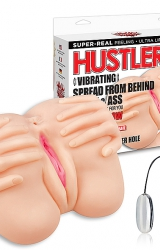 Masturbator - Hustler Vibrating Spread From Behind Pussy & Ass