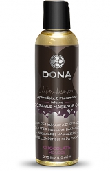 Jadalny olejek do masażu - Dona Kissable Massage Oil Chocolate Mousse Czekoladowy