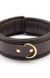 Obroża - Coco de Mer Leather Collar Brown