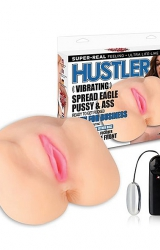 Masturbator - Hustler Vibrating Spread Eagle Pussy & Ass