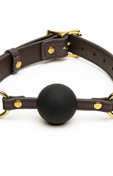 Knebel - Coco de Mer Leather Ball Gag Brown