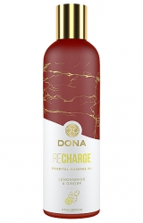 Olejek do masażu - Dona Essential Massage Oil Recharge Lemongrass & Ginger 120 ml